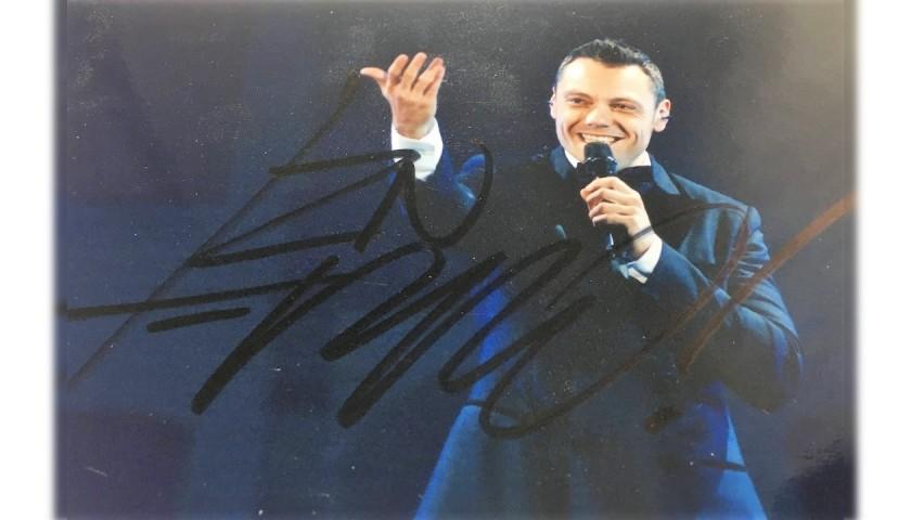 Tiziano Ferro Signed Photograph