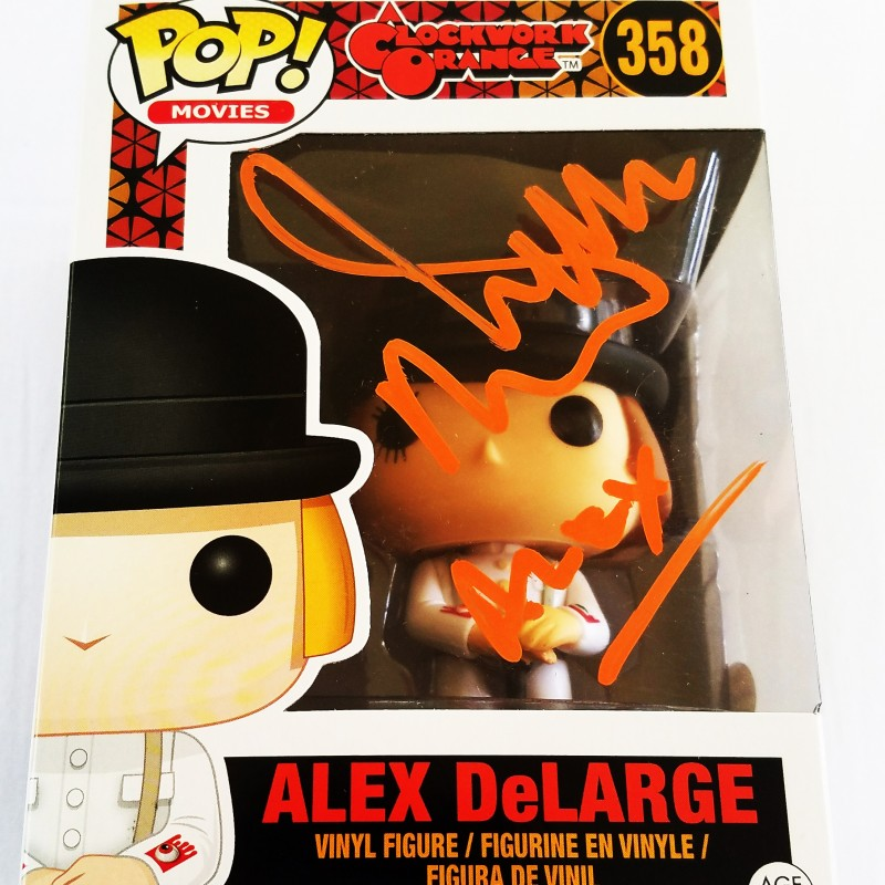 "Malcolm McDowell Hand Signed ""A Clockwork Orange"" Funco Pop! Figure"