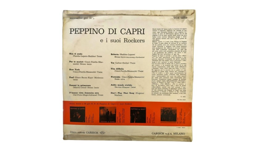 Peppino di Capri e i suoi Rockers LP, 1963